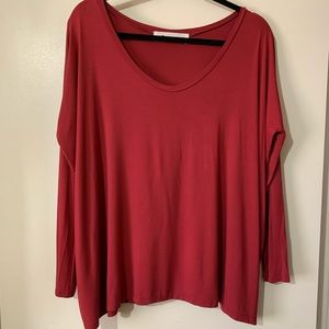 The Impeccable Pig oversized scoop neck top